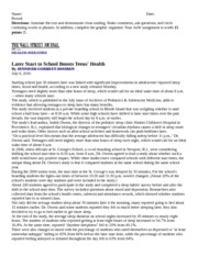 Later Start to School Boosts Teens' Health(2)