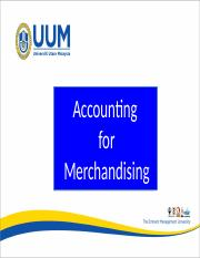 Chapter 5 - Accounting For Merchandising Business
