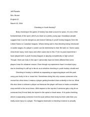 English Research Essay