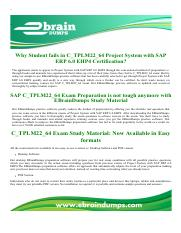 SAP ERP 6.0 EHP4 C_TPLM22_64 Exam Dumps
