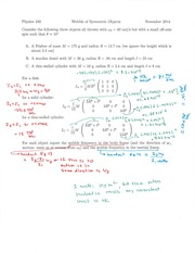 Phys 339 Axial Spin Homework Notes
