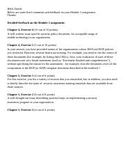 Module 3 assignment feedback and comments.docx