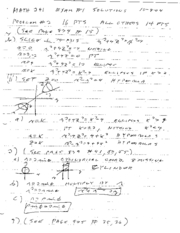 math241 f04 exam1 solutions