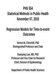 PHS 554 (2016_11_07 - Regression Models for Time-to-event Outcomes)