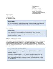 Cover letter guidance