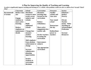 EDUC 125C Plan for Improving the Quality of Teaching and Learning