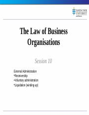 Law of Business Organisations session 10 2014