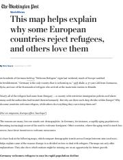 This map helps explain why some European countries reject refugees, and others love them - The Washi