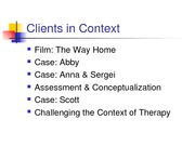 Clients in Context