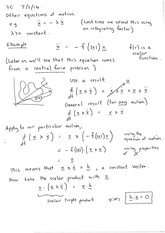 Equations of motion (notes)