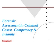 PY 377 Ch.8 Forensic Assessment Powerpoint