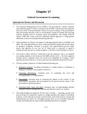Solutions Ch 17; Federal Government Accounting