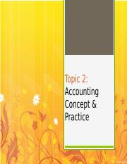 Chapter 2 - Accounting Concept Practice