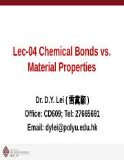 AP20002-Lect04-Bonding and Properties(1)