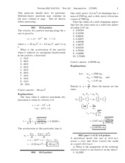 Physics Test 1 solutions