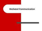 Mediated Communication 11-26