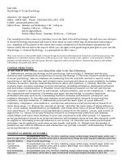 Whitney Reed II's Psych 8 - Syllabus El Camino College Torrance Campus.doc