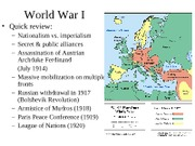 World War I and the Interwar Years