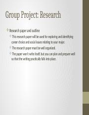 7. Group Project research paper