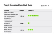 W3- Knowledge Check Study Guide