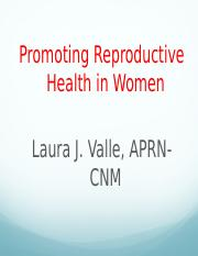 Promoting reproductive health of women