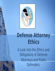 ethical obligations of a defense attorney