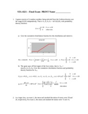 Sample Exam 4B Solution on Introduction to Probability.doc