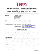 MGMT 3000 (Lyons) Course Syllabus-Sect. C, 1.25 pm Spring 2016 (CRN 20745; 20757) (3).pdf