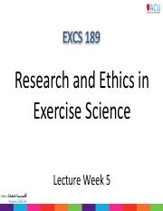 EXSC189 Lecture Notes Week 5_Complete