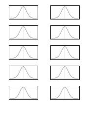 Blank Normal Curve Template small only