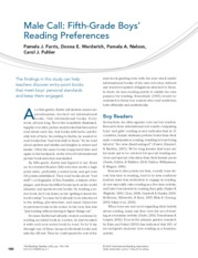 5th grade Boys' Reading Preferences