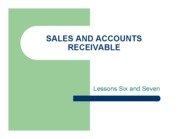 Sales and Accounts Recievable
