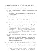 MATH 082 Spring 2005 Midterm 3 Version 1 Solutions