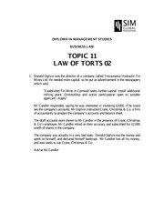 BUS015_2014_TOPIC 11_Torts02