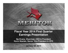 MTOR 2014 Q1 Earnings Presentation