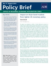 OREI Policy Brief - Impact on Asian bond markets from tighter US monetary policy