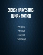 Energy Harvesting- Human Motion.pptx
