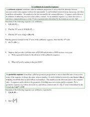 5.7 Arithmetic&Geometric Sequences