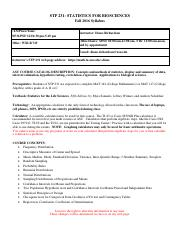 syllabi statistic 1 2 Respond to discussion boards, blogs and journal postings within 2 business days respond to emails within 2 business days grade assignments within 1 week of the assignment deadline.