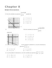 S2 Ch 7 Simultaneous Linear Equations in Two Unknowns