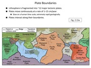Powerpoints on Plate Tectonics