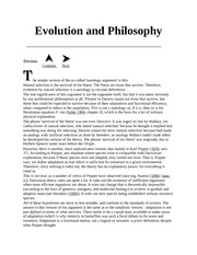 Evolution and Philosoph2