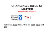 CHANGING STATES ppt