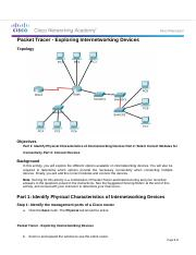 6.3.1.8 Packet Tracer - Exploring Internetworking Devices.docx