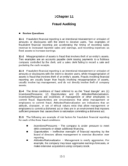 AUDITING SP 2008 CH 11 SOLUTIONS