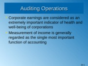 Completing an Audit