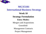 MGX5181 Week 10 2014 MAs Greenfield project ops mgt contracts