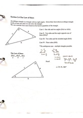 3.4 Law of sines