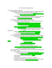 Ch 8 outline