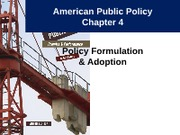 Notes 6 - Policy Formulation